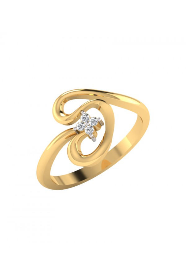 Bright Fashion 92.5kt Sterlling Silver Classic Curve Ring - (RL-04210)