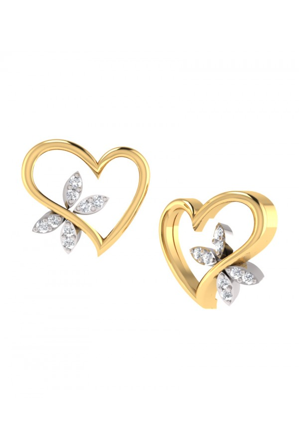 Bright Fashion 92.5Kt Sterlling Silver Classic Heart Earring - (PDE-02535)