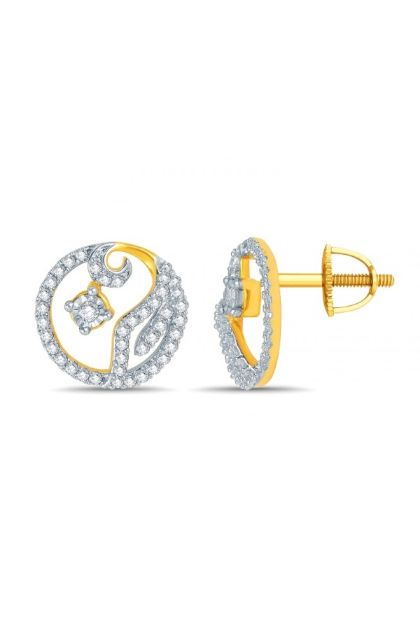 "Bright Fashion 92.5Kt Sterlling Silver ""Kumodini"" Earring - (PDE-02107Y)"