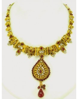 Peacock Polki Necklace Sets with Earrings - 68028