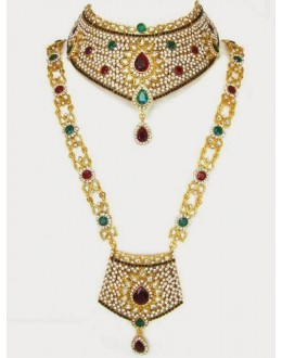 Polki Bridal Necklace Sets - 68094 (SD-12)