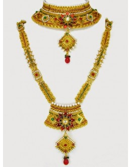Polki Bridal Necklace Sets - 69955 (SD-12)