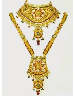 Polki Bridal Necklace Sets - 70245 (SD-12)