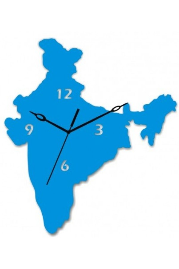 Acrylic Wall Clock - India Map GLAC052