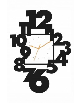 Acrylic Wall Clocks -Number out of clock GLAC049