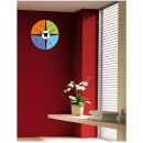 Acrylic Wall Clocks - Round Colorful Clock GLAC003