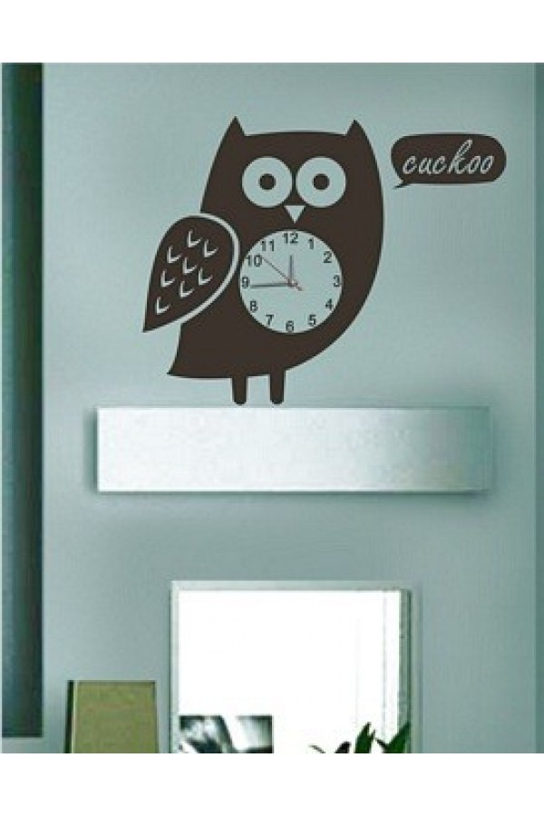 Decal Style - Owl Clock GLCS019