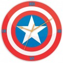 Wooden Wall Clock - Captain America logo clock GLWD041