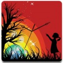 Wooden Wall Clock - Child With Tree GLWD075