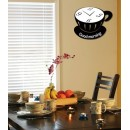 Wooden Wall Clock - Coffee Cup StyleGLWD037