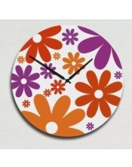 Wooden Wall Clock - Colorful Flower Shape GLWD001