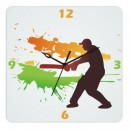 Wooden Wall Clock - Cricket Style GLWD056