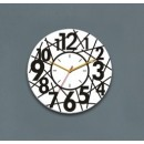 Wooden Wall Clock - Cross Wire Style GLWD036
