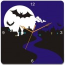 Wooden Wall Clock - Dark Night GLWD073