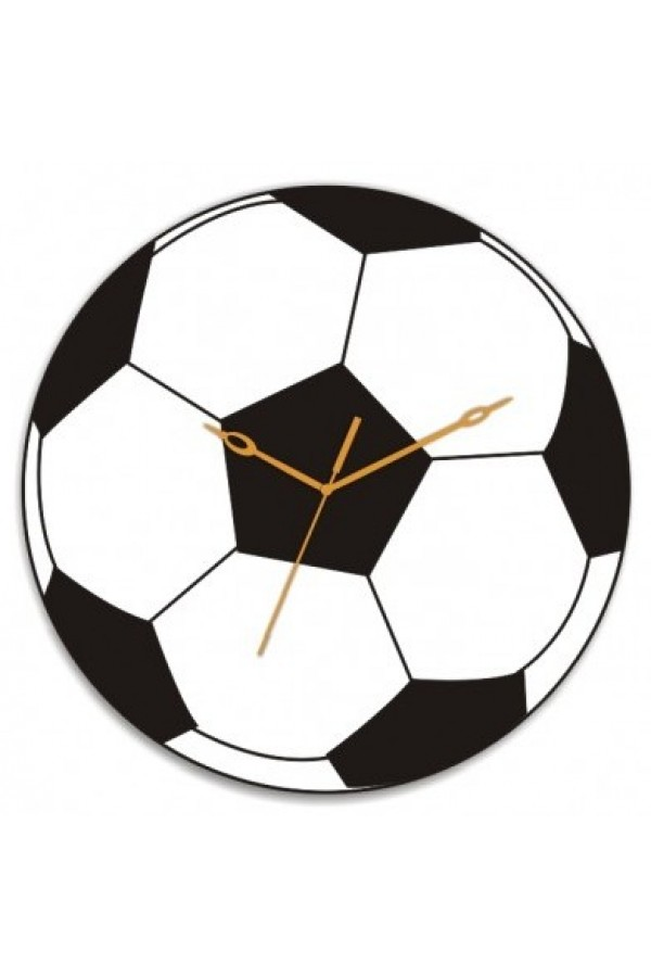 Wooden Wall Clock - Football GLWD080
