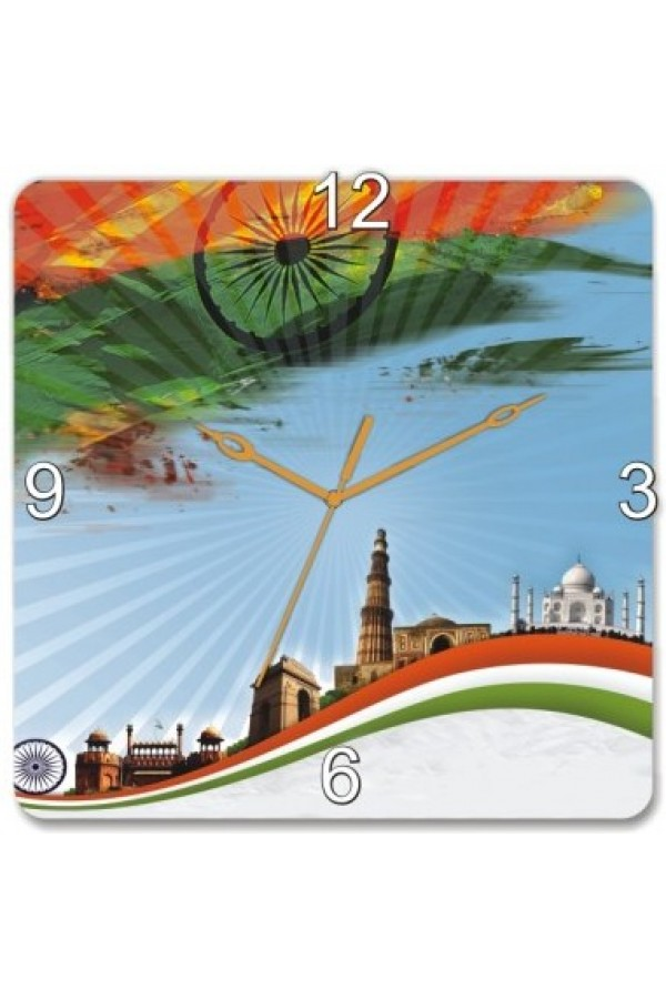 Wooden Wall Clock - Indian Monumnets GLWD054
