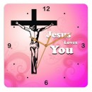 Wooden Wall Clock - Jesus Christ GLWD060