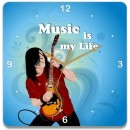 Wooden Wall Clock - Music Passion GLWD076
