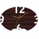 Wooden Wall Clock - Oval Wooden Texture GLWD049