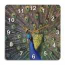Wooden Wall Clock - Peacock Style GLWD067