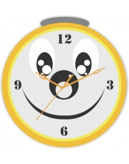 Wooden Wall Clock - Smiley Face GLWD086