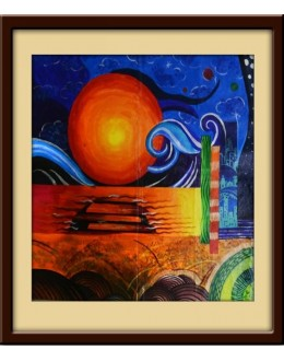 Wall Painting Of Abstract Art - GDCPDG0005