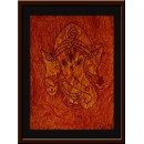 Wall Painting Of Abstract Ganesha - GDCPVL0019