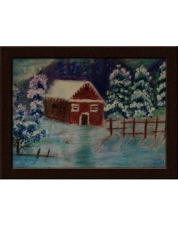 Wall Painting Of Farm House - GDCPVL0034