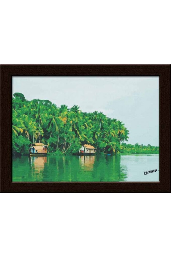 Wall Painting Of Kerla Back Waters - GDCPRD0060