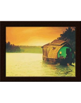 Wall Painting Of Kerla House Boat - GDCPRD0059