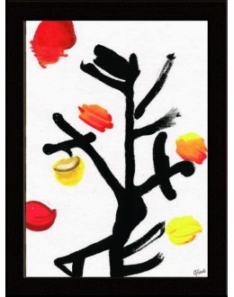 Wall Painting Of Modern Art Brush Stroke - GDCPGL0073