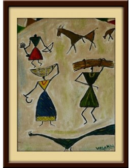Wall Painting Of Modern Art Tribal - GDCPVL0022