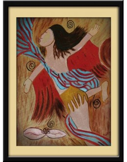 Wall Painting Of Modern Tribal Art - GDCPVL0008