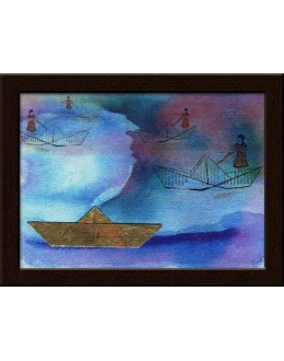 Wall Painting Of Paper Boat Modern - GDCPGL0051