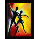 Wall Painting Of Salsa Couple - GDCPGL0074