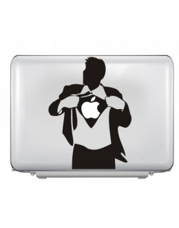 LAPTOP STICKER -Apple man