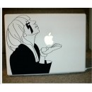 LAPTOP STICKER - GIRL WITH LOGO