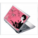 LAPTOP STICKER - GIRL WITH SKULL