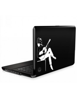 LAPTOP STICKER - Lady with Guitar