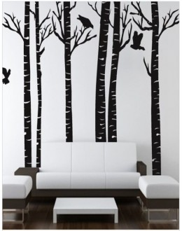 Bamboo Tree Decals Style Wall Sticker -GGES086