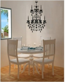 Chandelier Decals Style Wall Sticker-GGES004