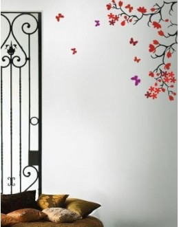 Floral Decals Style Wall Sticker-GGES125