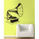 Wall Sticker Gramophone