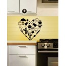 Wall Sticker - Heart kitchen