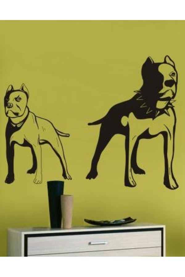Wall Sticker of Bulldog