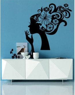 Wall Sticker of Floral Lady