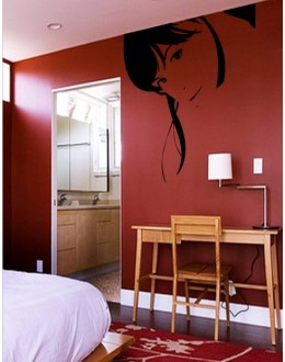 Wall Sticker of Girl Face
