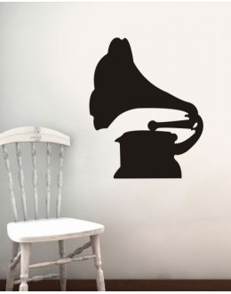 Wall Sticker of Gramophone