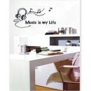 Wall Sticker of Music is my Life