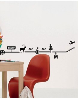 Wall Sticker of One Way